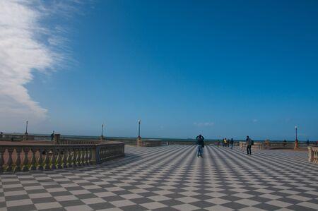 livorno: 22 october 2017-livorno-italy-the beautiful mascagni terrace in livorno,italy
