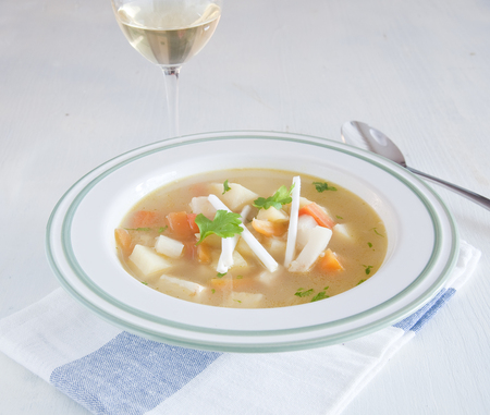 Very good soup of celeriac, carrots and potatoes,italy