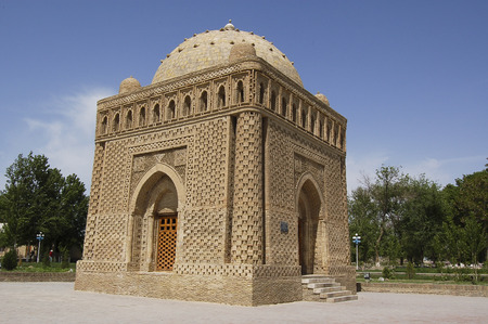 The mausolem of Samanid, bukhara Stock Photo