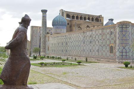 registan, was the heart of the anciente city of Samarcanda, Uzbekistan Standard-Bild