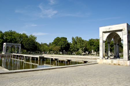 monument in the city of Fergana, uzbekistan Stock Photo