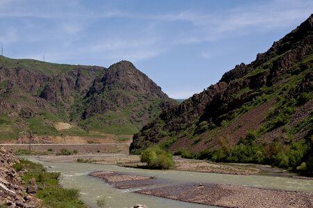The mountains in fergana valley, uzbekistan