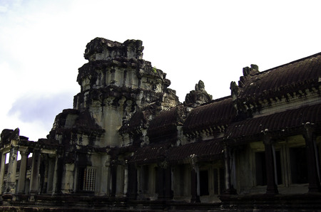 The temple of Angkor wat in Canbodia Banque d'images - 111211720