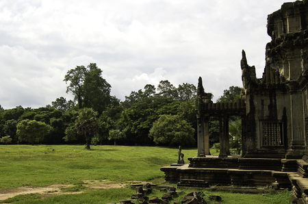 The temple of Angkor wat in Canbodia Banque d'images - 111211722