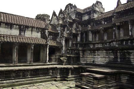 The temple of Angkor wat in Canbodia Banque d'images - 111211730