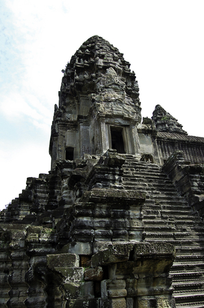 The temple of Angkor wat in Canbodia Banque d'images - 111211731