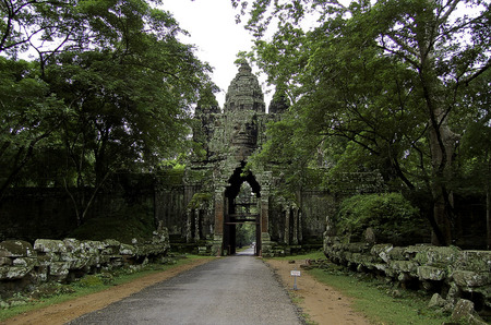 The temple of Angkor wat in Canbodia Banque d'images - 111211849