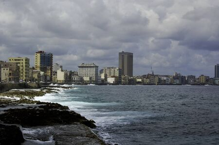 waterfront of the city of havana in cuba