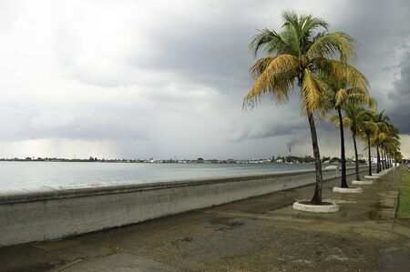 promenade of santiago de cuba after a thunderstorm Standard-Bild