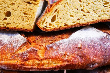 bread made in Italy of the pugliese form