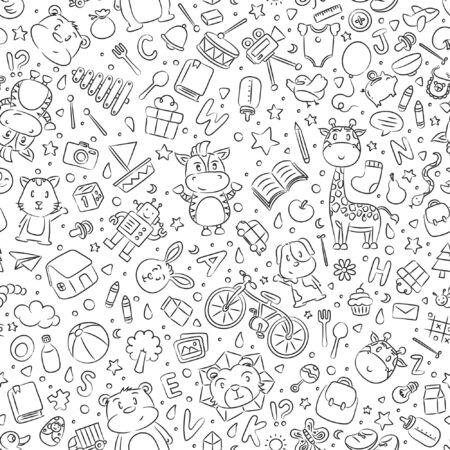 Seamless Cute Cartoon Background Design