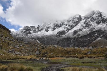 Cordillera blanca - Trek Santa Cruz Stock Photo