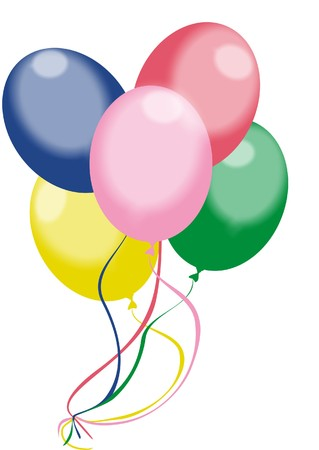 Color balloons (vector) Vector