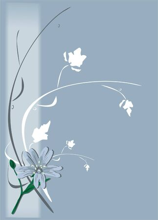 Chamomiles. Abstract. Background (vector) Vector