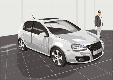 buyer: The car and the buyer (vector)
