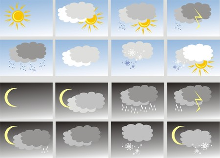 put: Weather. Icons (vector) Illustration