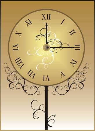 clockface: Clock-face. Vector Illustration