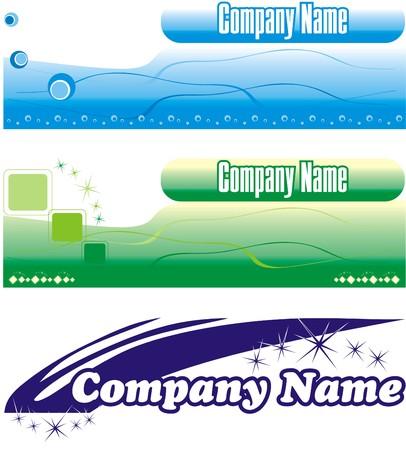 Logo. Corporative style Stock Vector - 3141789
