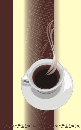 Cup with coffee. Background for wrapping. Vector Vector