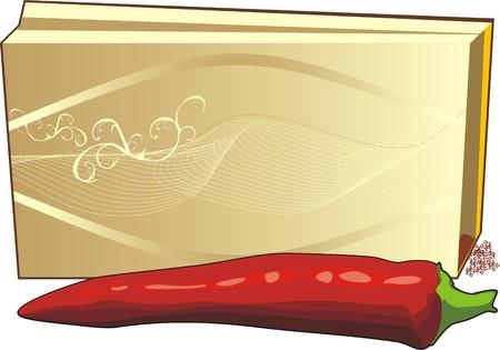 bitter: Bitter pepper. Package. Vector Illustration