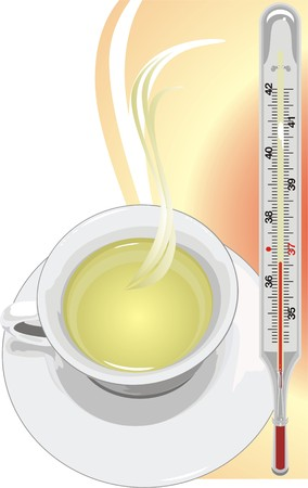 Green tea will deliver from a flu. Vector Vector
