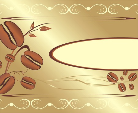 Corns of coffee. Abstract background for wrapping. Vector Vector