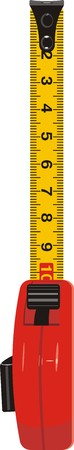 tape line: Measure meter. Vector Illustration