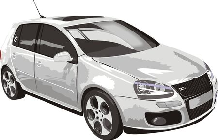 Car of white color (vector)