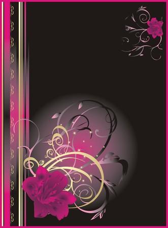 adorn: Lily. Floral abstracto de antecedentes para el envasado. Vector