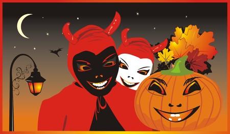 Halloween. Background for card. Vector Vector
