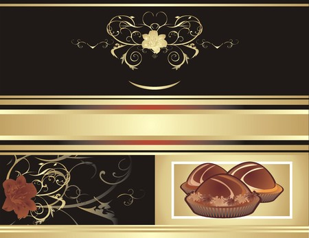 Abstract background for wrapping. Chocolate candies. Vector Vector