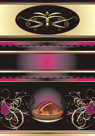Chocolate candies. Abstract background for wrapping. Vector Vector