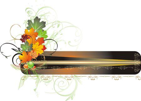 Foliage of maple. Autumn decor for card. Vector Stock Vector - 3679109