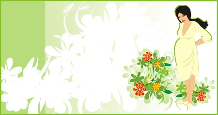 Pregnancy. Background for card. Vector Vector