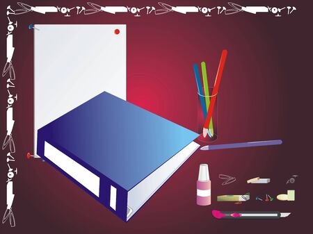 Office icons. Set of stationeries. Vector Vector