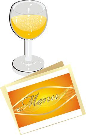 Glass with lemonade. Vector Stock Vector - 4066616