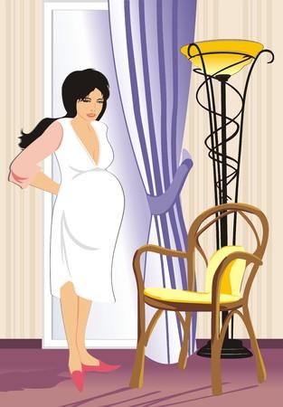 dolore ai piedi: Una madre ha deciso di riposo. Vector