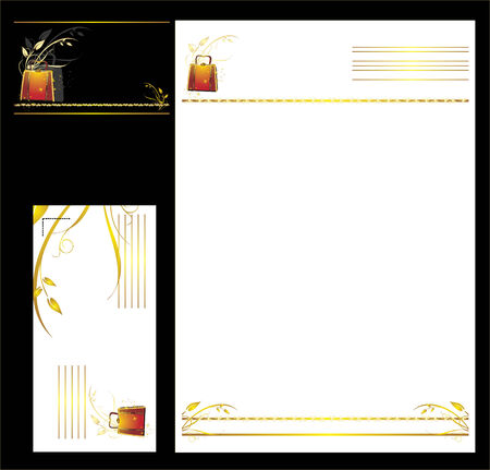 womanish: Womanish bag. Business cards. Fashion and style. Vector