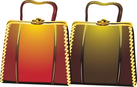 womanish: Womanish bags. Vector Illustration