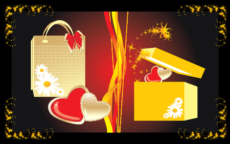 Gifts to the Valentines day. Vector Stock Vector - 4137368