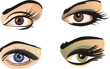cilia: Female eyes. Vector Illustration