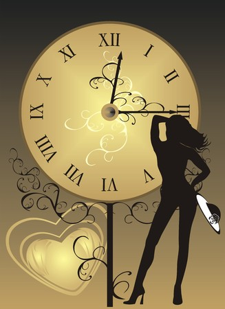 Appointment. Silhouette of woman. Vector Stock Vector - 4233724