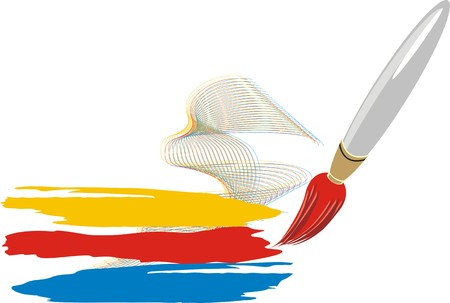Brush. Icon for logotype. Vector Vector