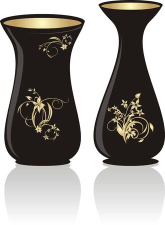 Two vases. Vector Illustration