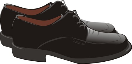 Masculine shoes. Vector Vector
