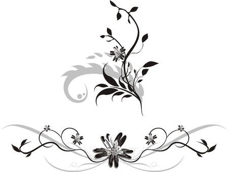 Set of ornaments for design. Vector Vector