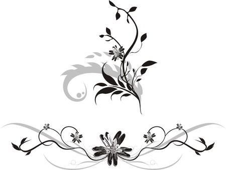 Set of ornaments for design. Vector Vector