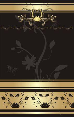Adorno floral para la decoración. Ajuste. Vector Ilustración de vector