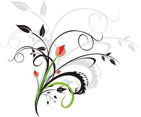 Bouquet. Ornament for design. Vector Vector