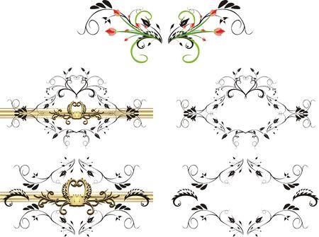 Patterns of ornaments for design. Vector Vector